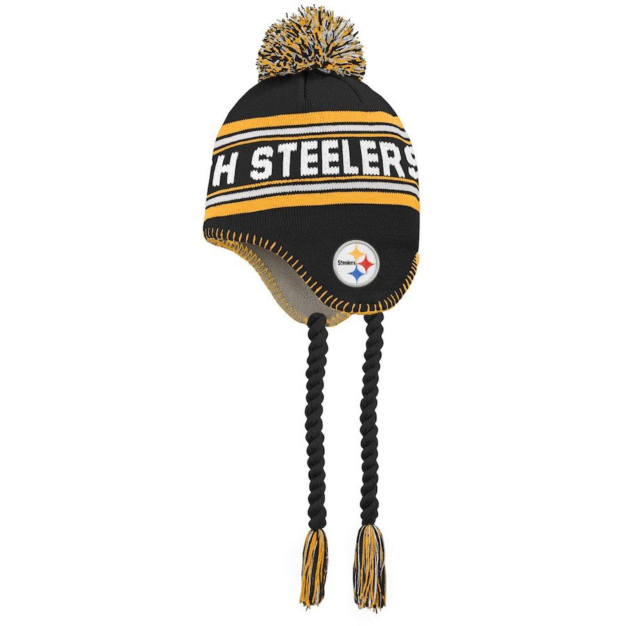 6aeed5676 Preschool Pittsburgh Steelers Black/Gold Jacquard Tassel Knit Hat with Pom,  Your Price: $15.99