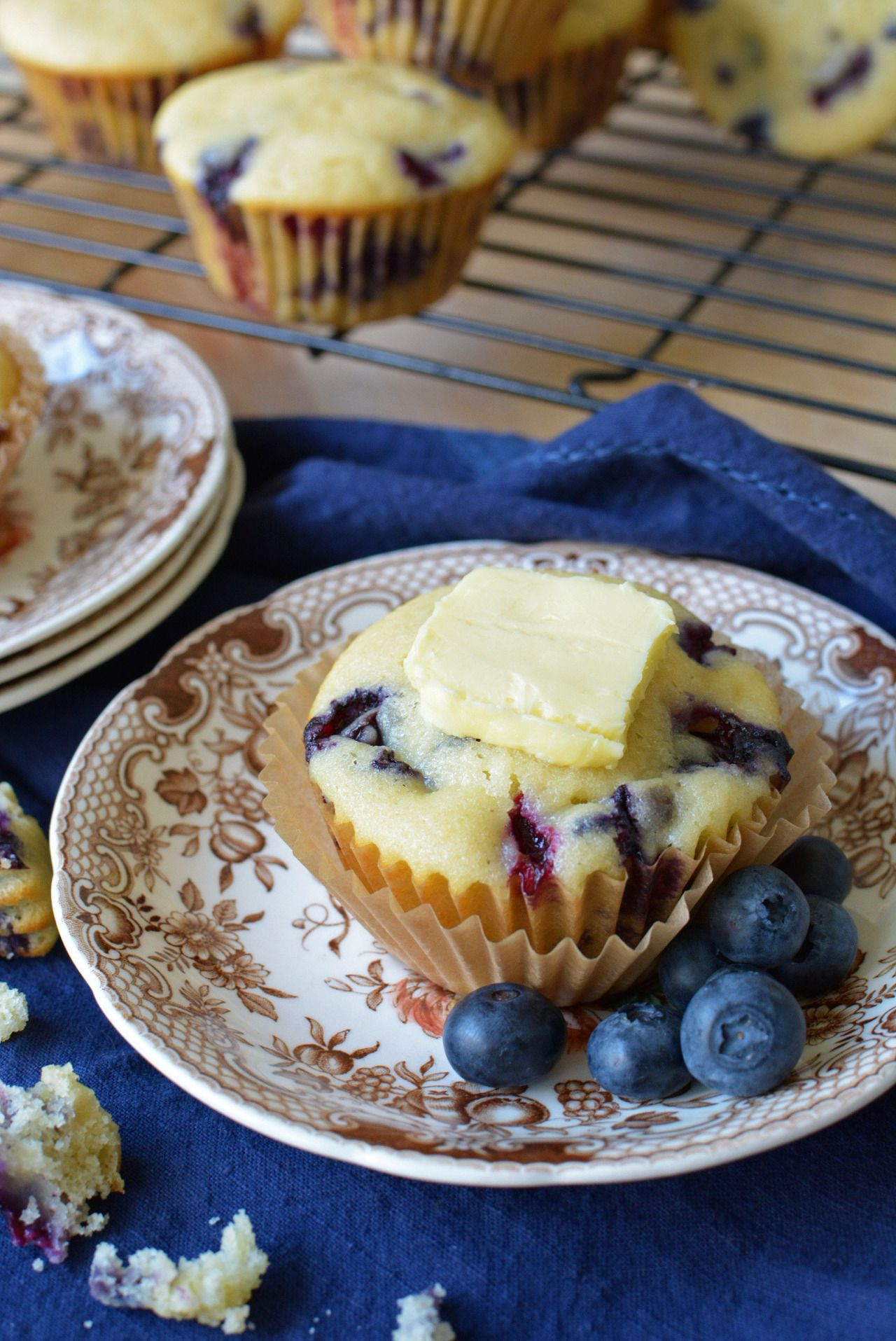 """""""Sweet Blueberry Muffins- These deliciously sweet blueberry muffins are a favorite family recipe. """" Congratulations simpleseasonal for having the winning submission August 22, 2016!"""