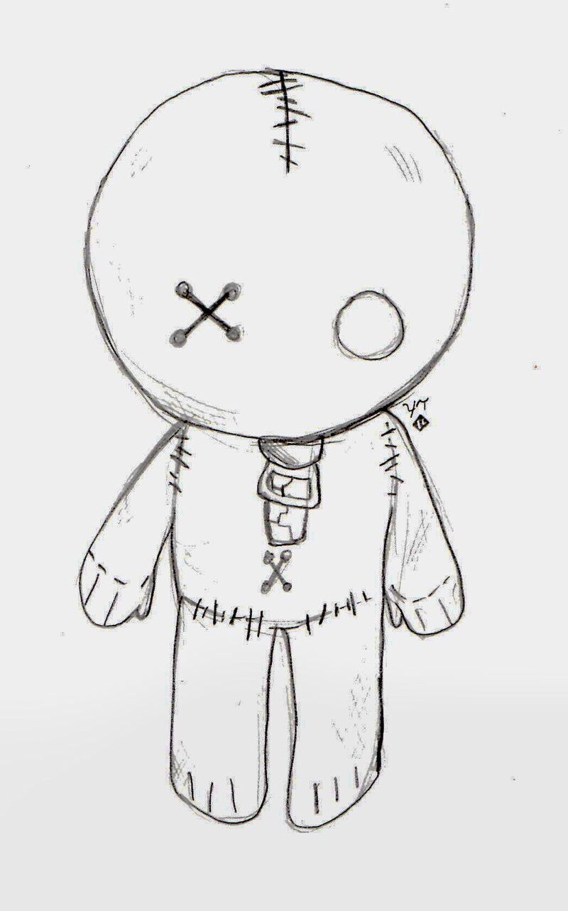 Voodoo Emo Doll With Images Cute Easy Drawings Cool Easy