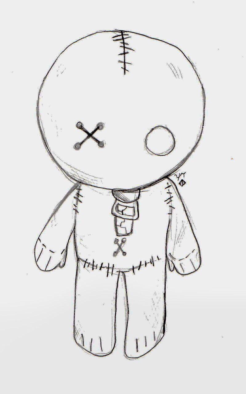 Voodoo Emo Doll Cool Easy Drawings Cute Easy Drawings Scary Drawings