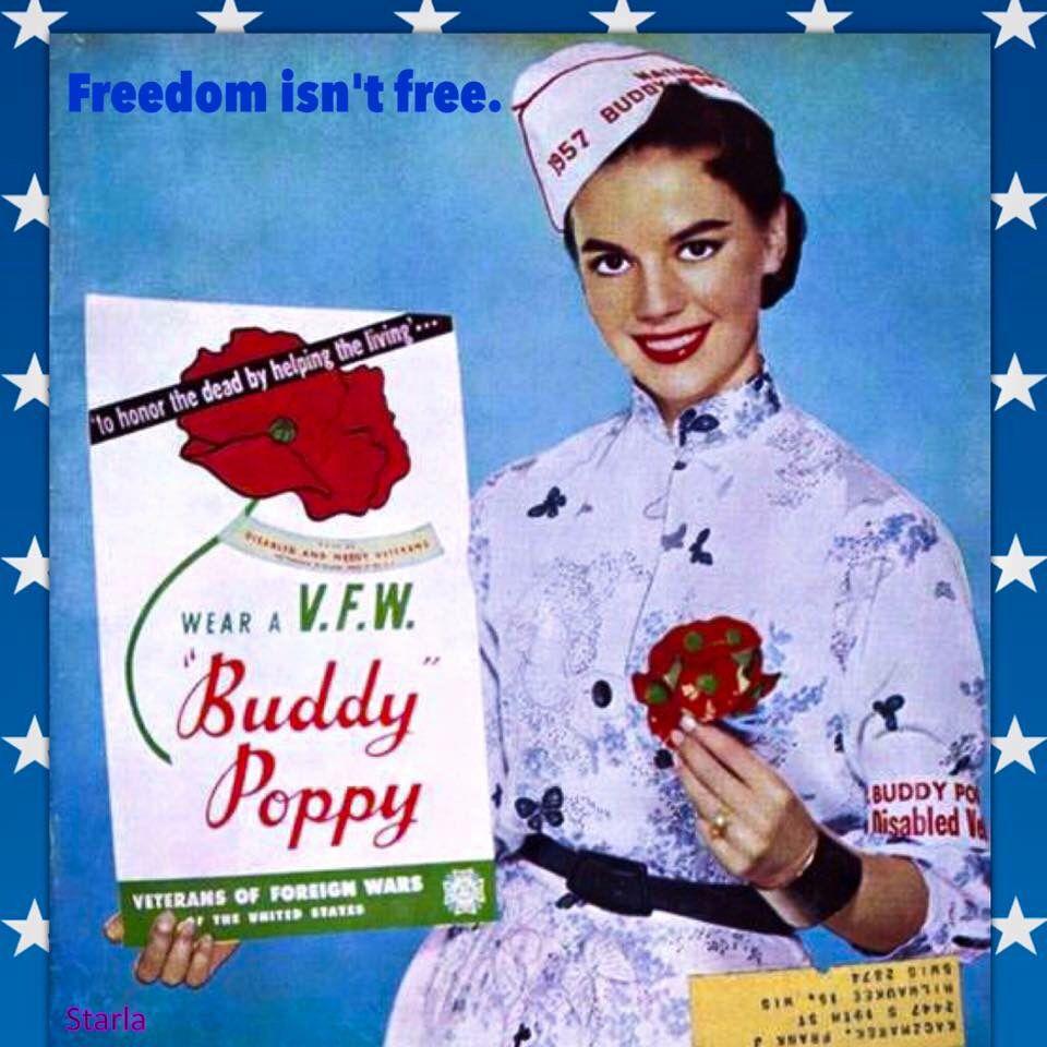 Natalie as a Buddy Poppy girl #memorialday