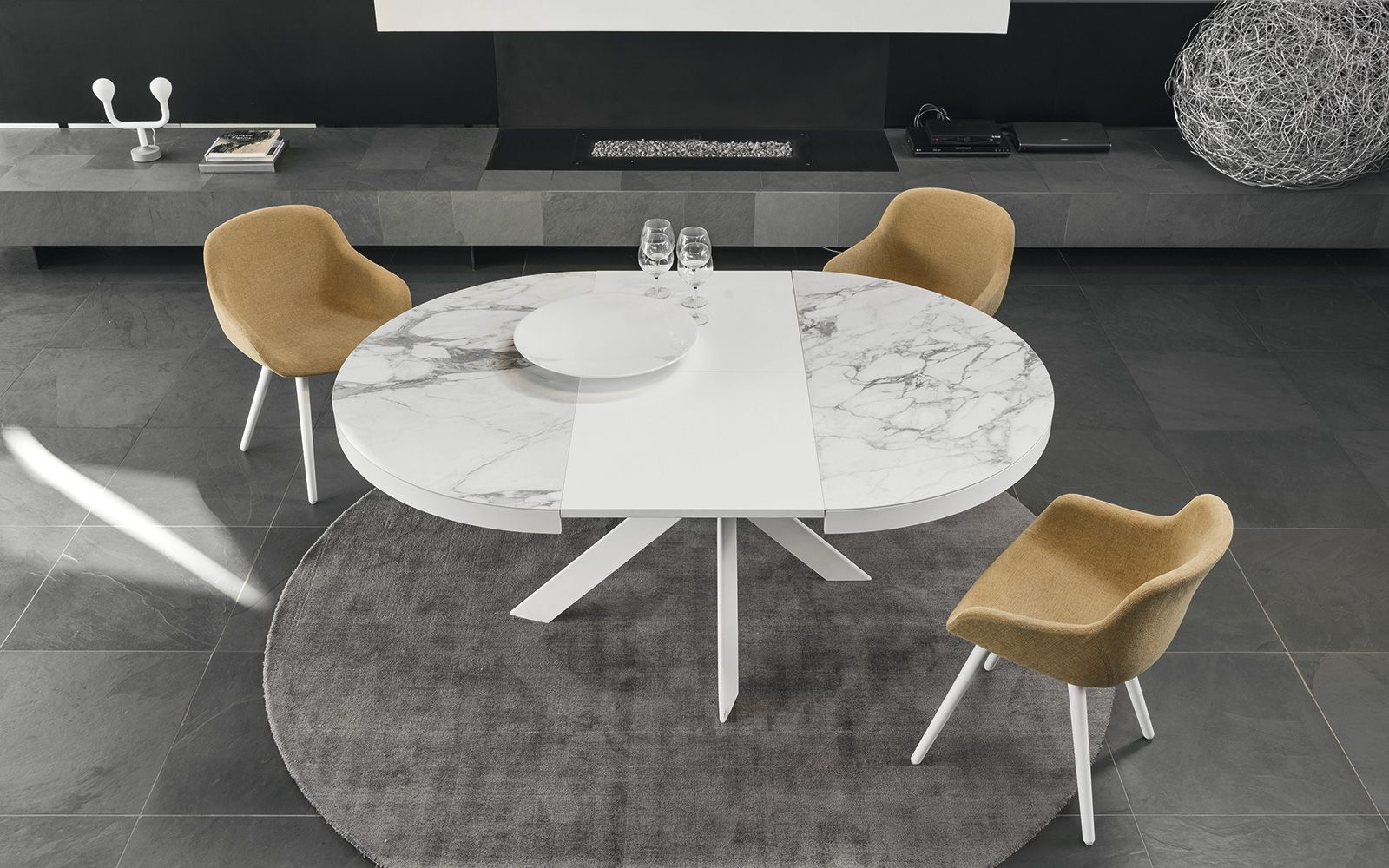 Design dining table tivoli calligaris cs dining room