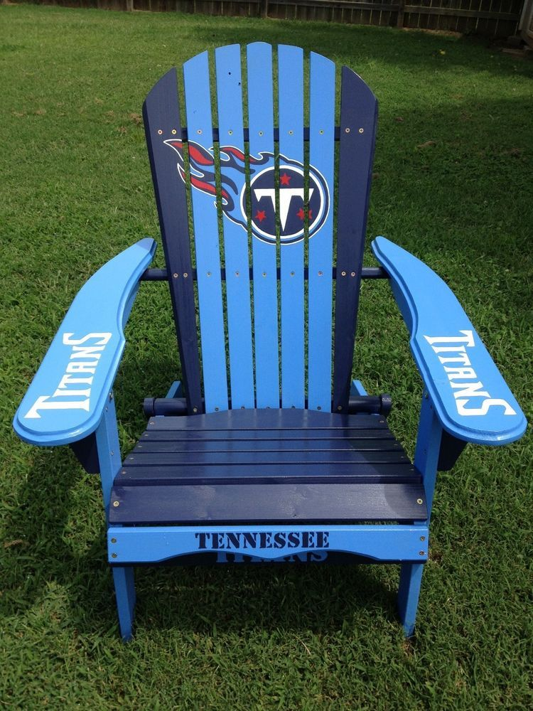 Hand Painted Tennesee Titans Folding Adirondack Chair Nfl