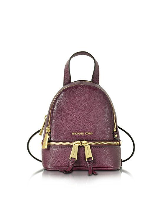 MICHAEL BY MICHAEL KORS WOMEN'S 30T6GEZB1L633 BURGUNDY LEATHER BACKPACK