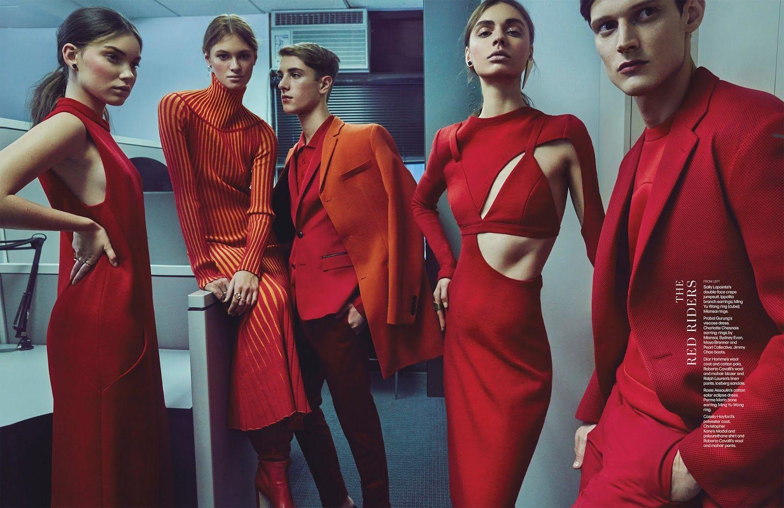 Fashion tribes: Lera Bubleyko, Freja Jeppesen, Tina Veshaguri, Adam Butcher and Frank Rossi by An Le for WWD december 2015