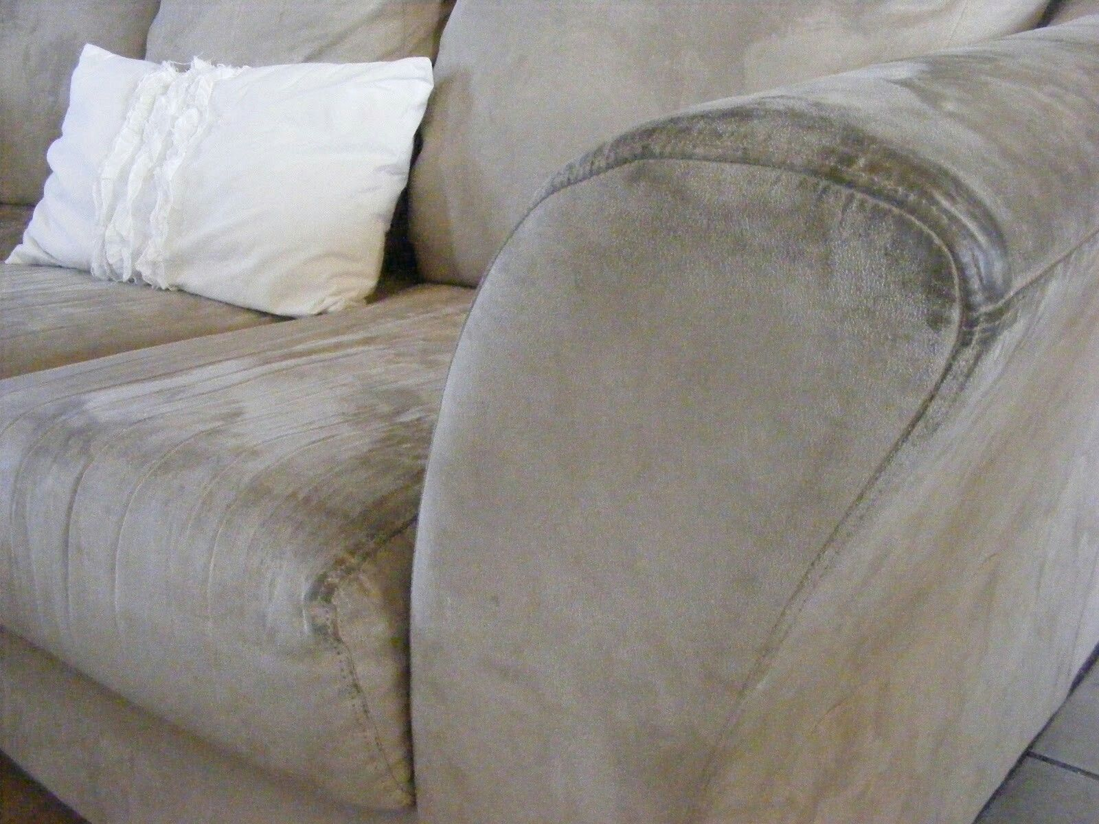 Clean a microfiber couch with a magic eraser cleaning