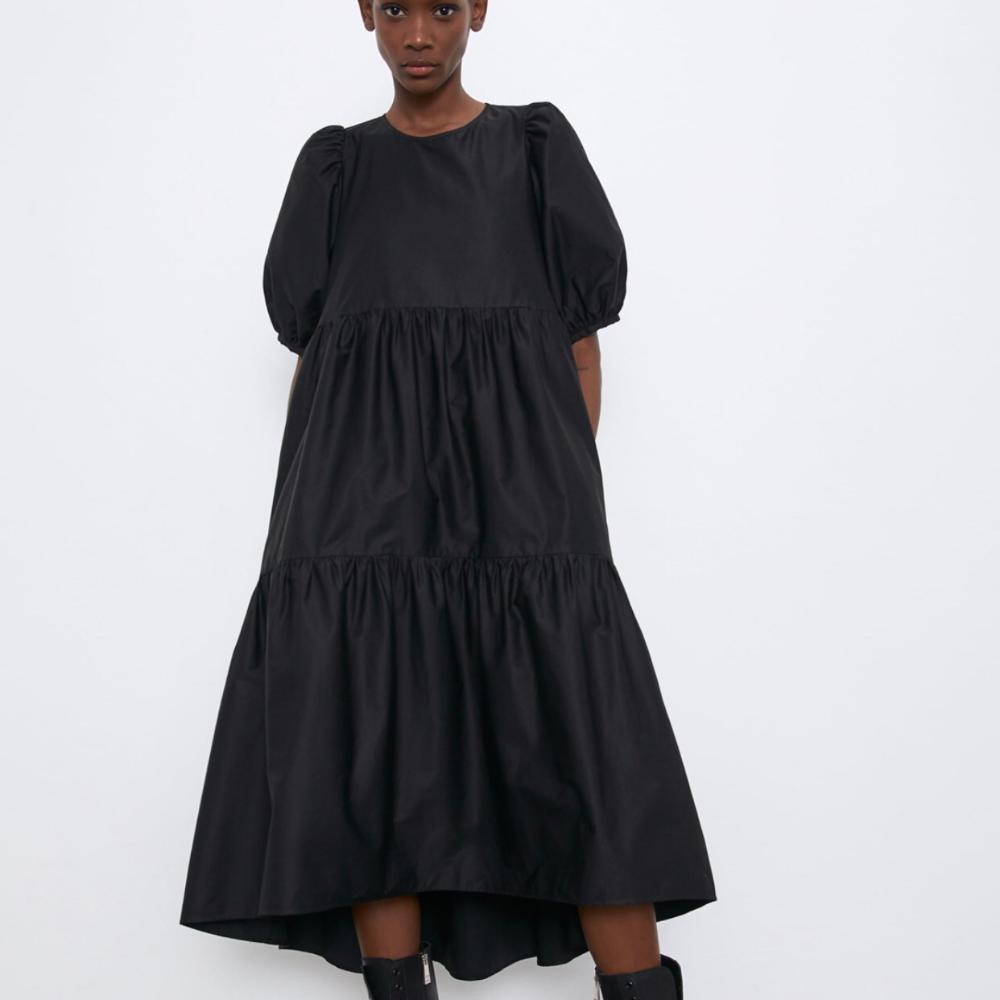 Black Zara poplin dress. Gorgeous style, super...   Depop   Zara ...