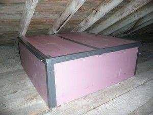 Diy Whole House Fan Insulation Box For Cold Weather To Prevent Warm Air From Being Pulled Into The Attic Need To Make A Whole House Fan Home Diy House Fan