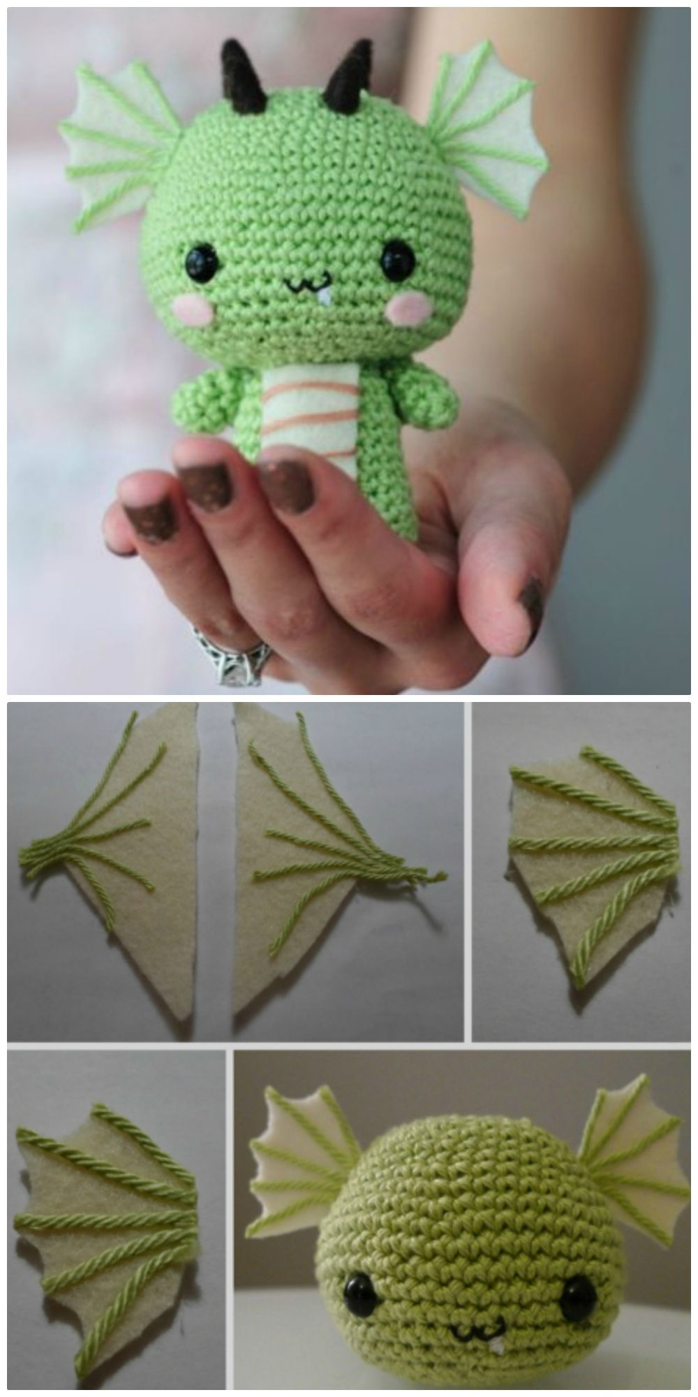 Crochet Dragon Patterns - Free And Paid - The WHOo