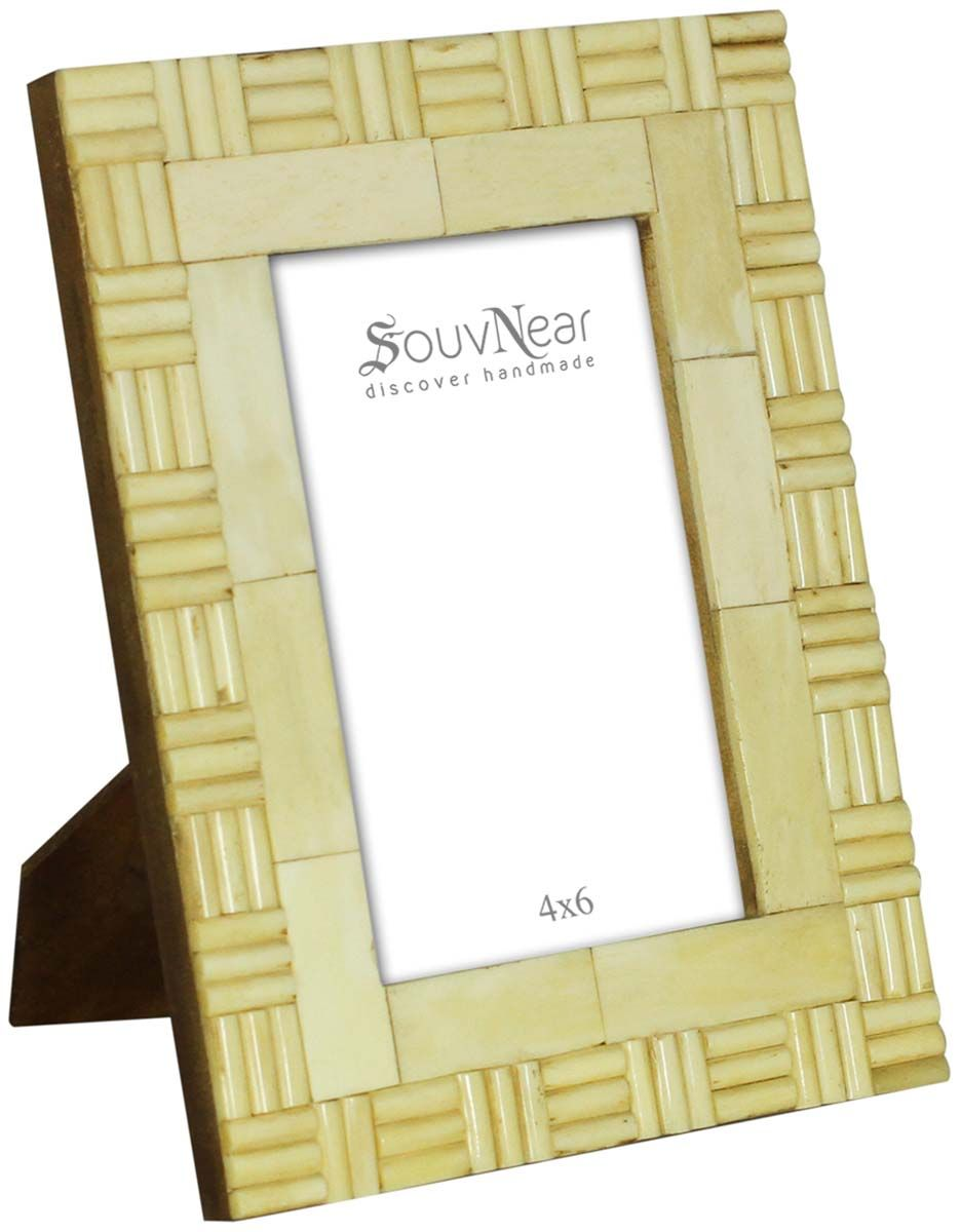 Pale Off-White 4x6 Inches Picture Frame in Bulk - Wholesale Hand ...