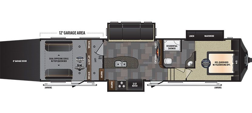 Keystone Rv 345 Floorplan Toy Hauler Keystone Rv Fifth Wheel Campers