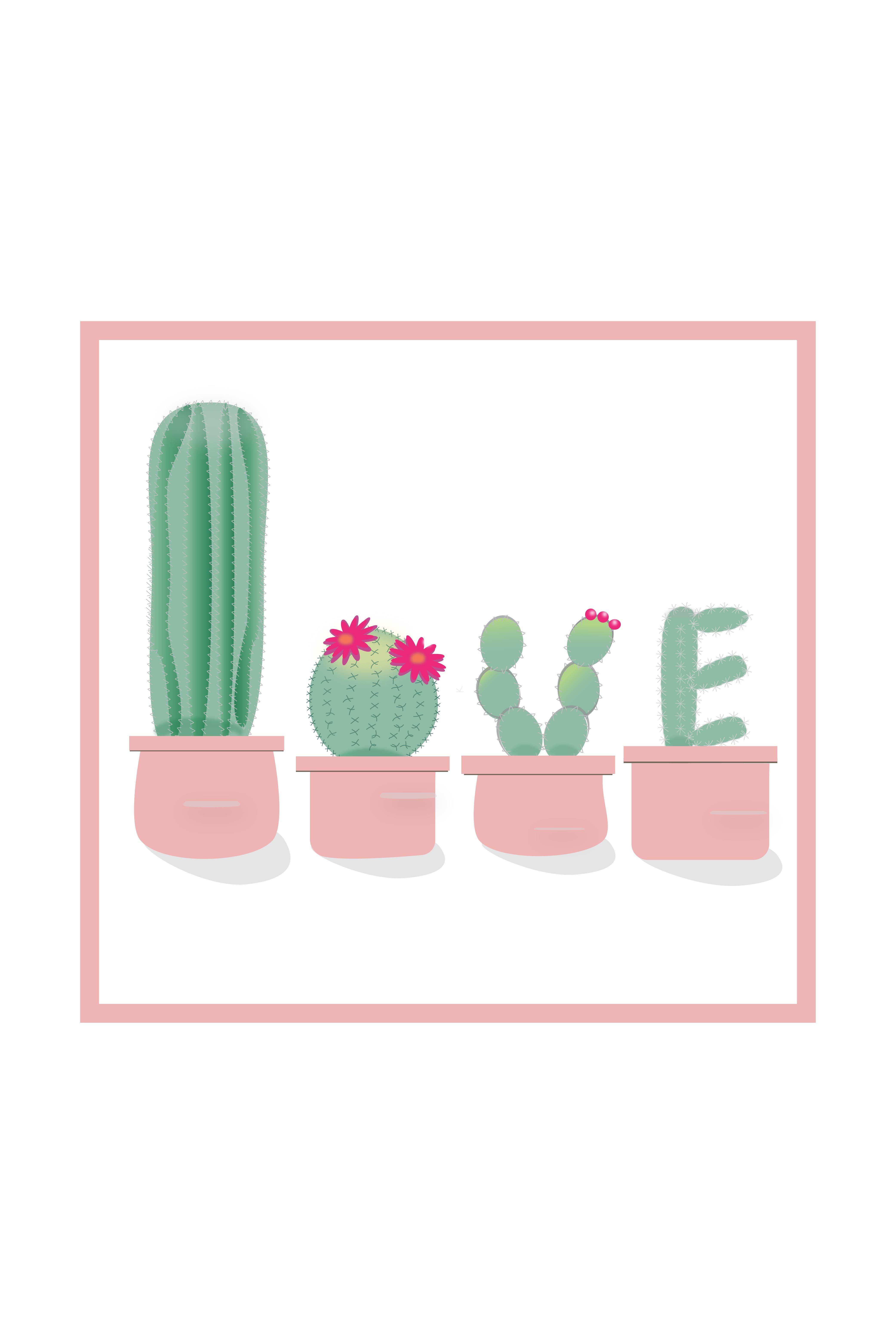Cactus Love Cactus Illustration Cactus Art Cactus Design