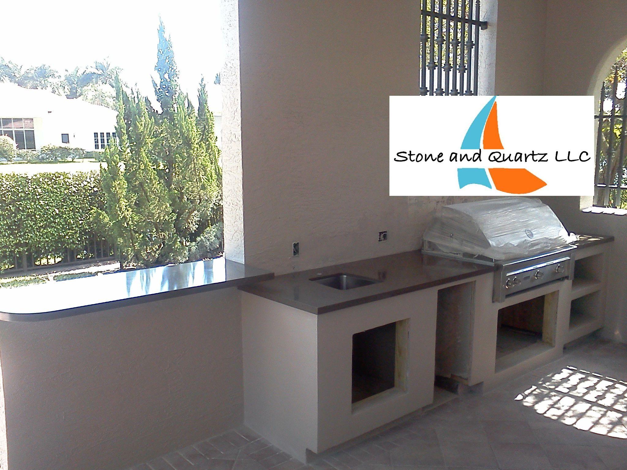 Outdoorküche Klein Quartz : Outdoor kitchen countertops fabricators stone and quartz llc