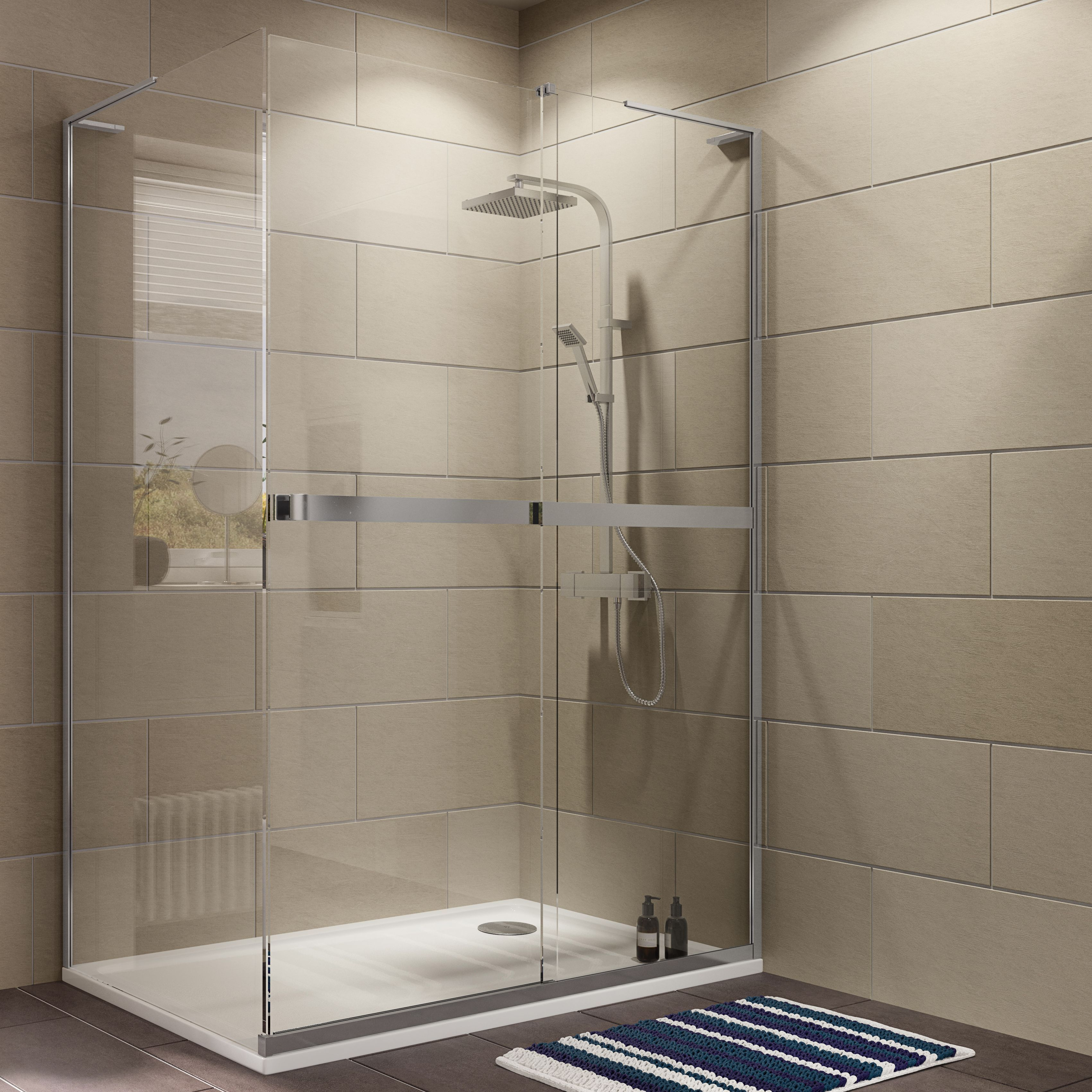 Cooke & Lewis Grandeur Rectangular Shower Enclosure with Single ...