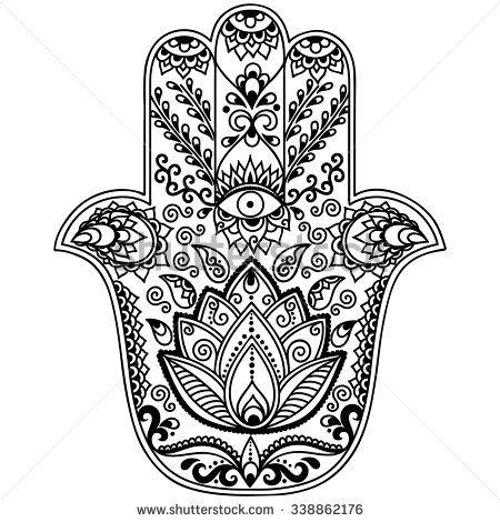 Hamsa Hand Coloring Page How To Draw Hands Hamsa Hamsa Tattoo