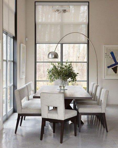 Monochromatic Dining Room Photo Andreas Trauttmansdorff Designer Julie Charbonneau Chairs And Table