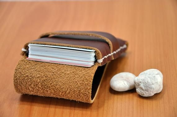 Leather Card Holder Leather Wallet Leather Card Sleeve