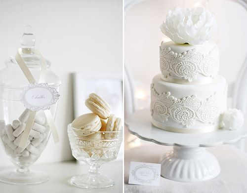 white dessert tables