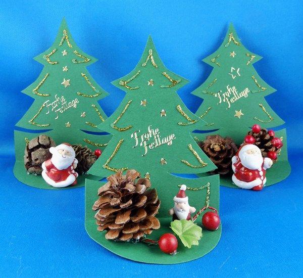 basteltipp weihnachten tischdeko tannenbaum bastelideen. Black Bedroom Furniture Sets. Home Design Ideas