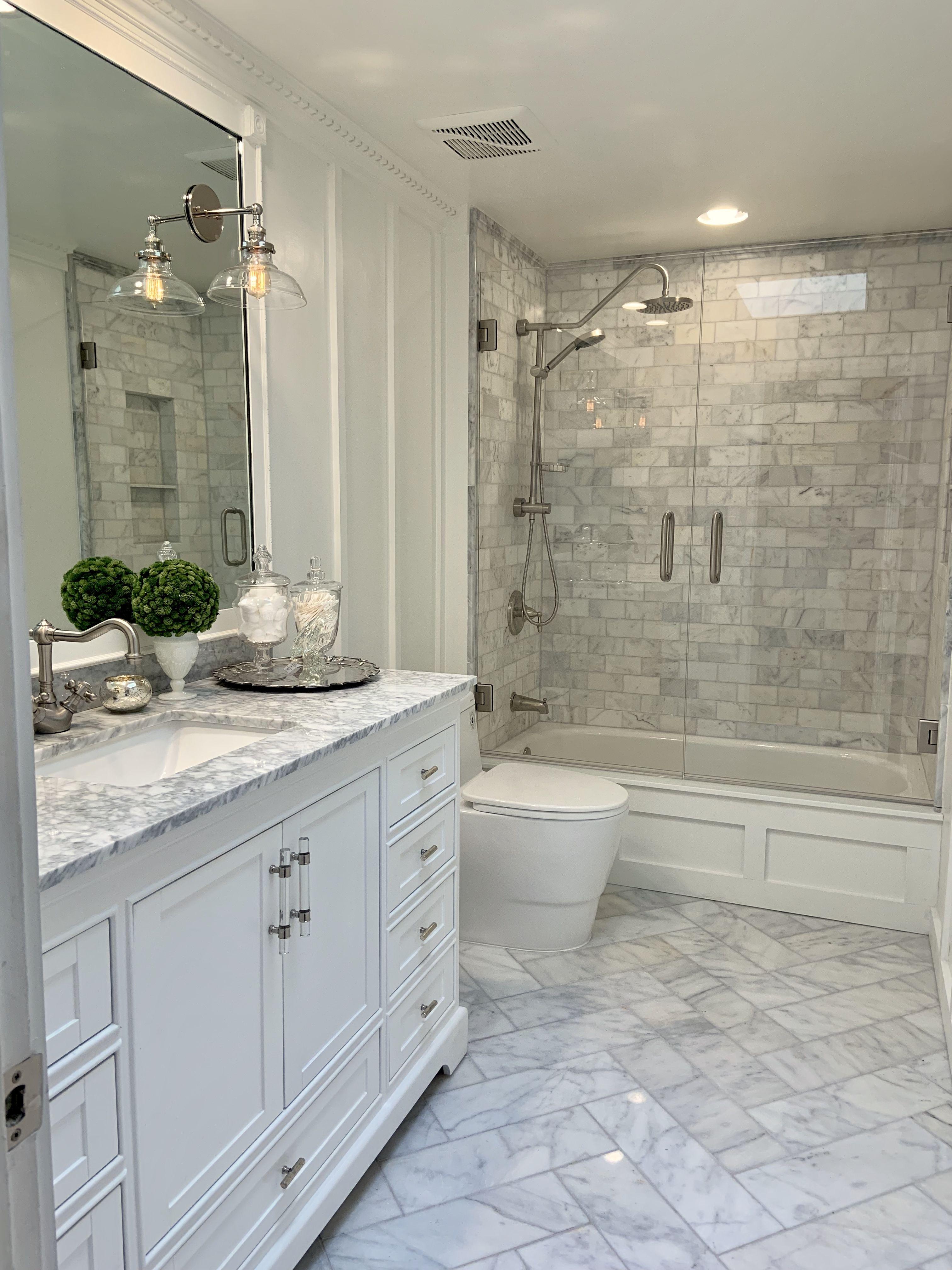 Full Bathroom Renovation  Bathroom renovation, Herringbone floor