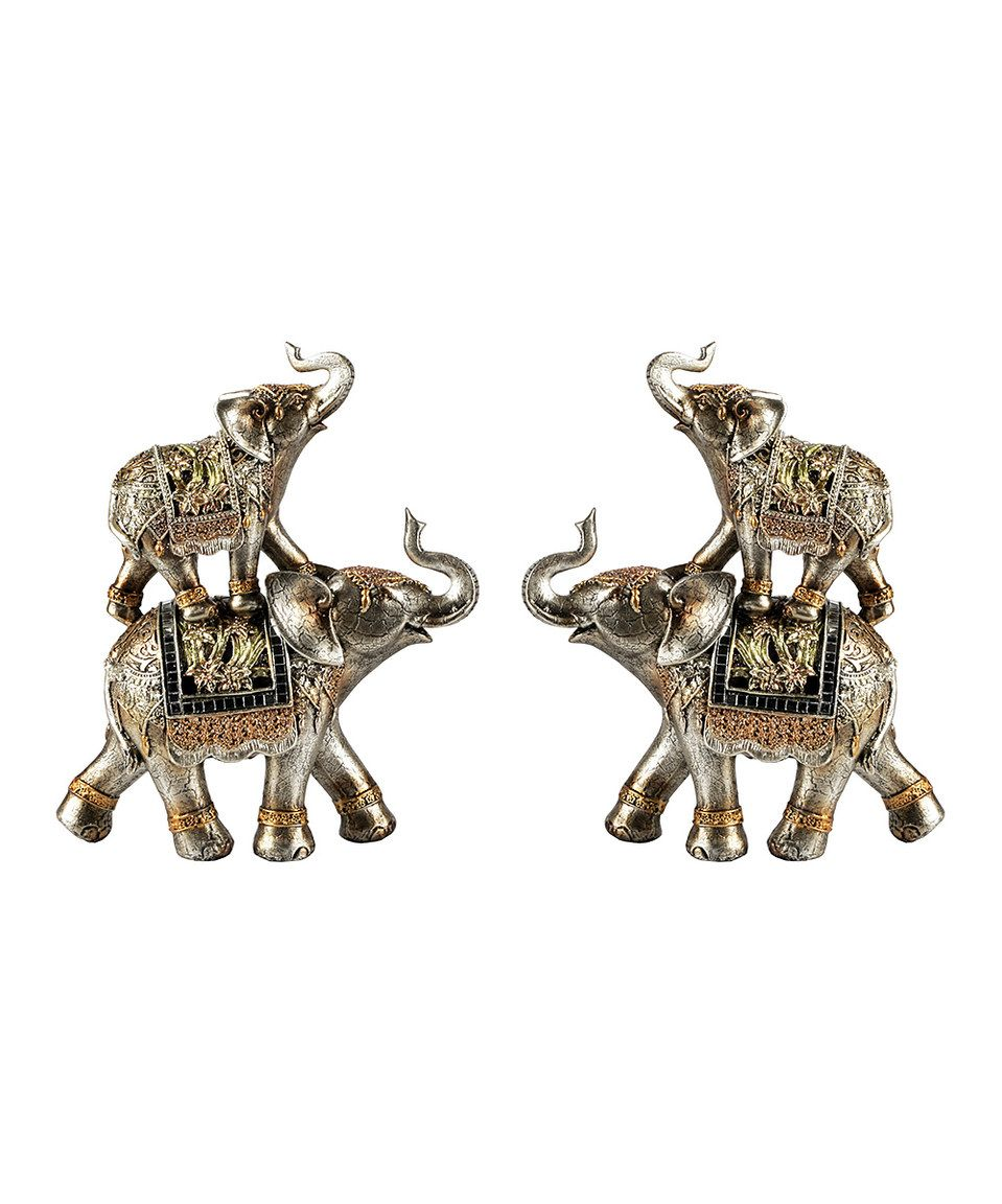 Loving this Jay Import Elephants Figurine - Set of Two on #zulily! #zulilyfinds