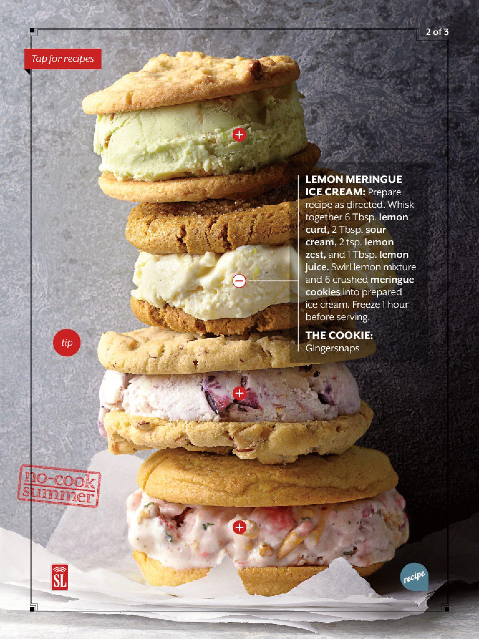 Lemon Meringue Ice Cream Food Pretzels Ice Cream Lemon Meringue
