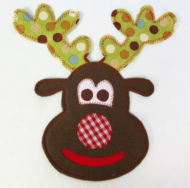 Christmas Reindeer Applique | Iron-on Christmas Reindeer Applique