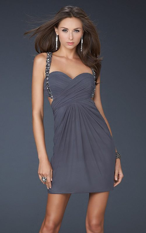 1000  images about La Femme 18048 Navy High Low Strapless Layered ...