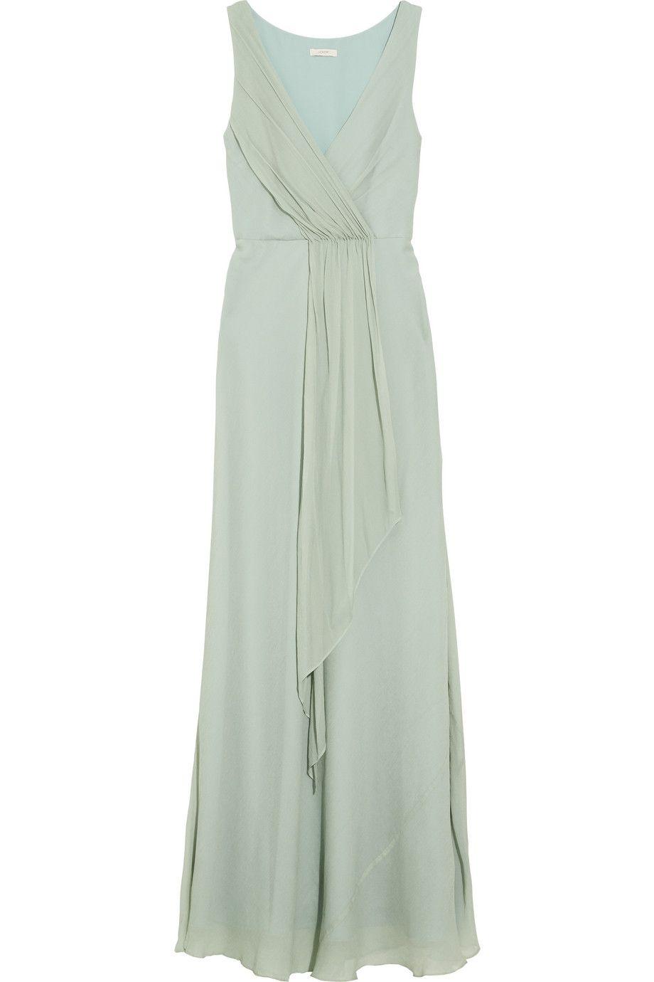 J.Crew | Evie draped silk-chiffon gown | NET-A-PORTER.COM | Costa ...