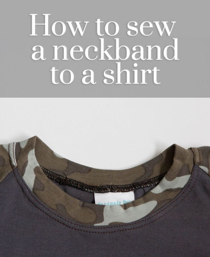 learn how to sew a neckband to a shirt with this video