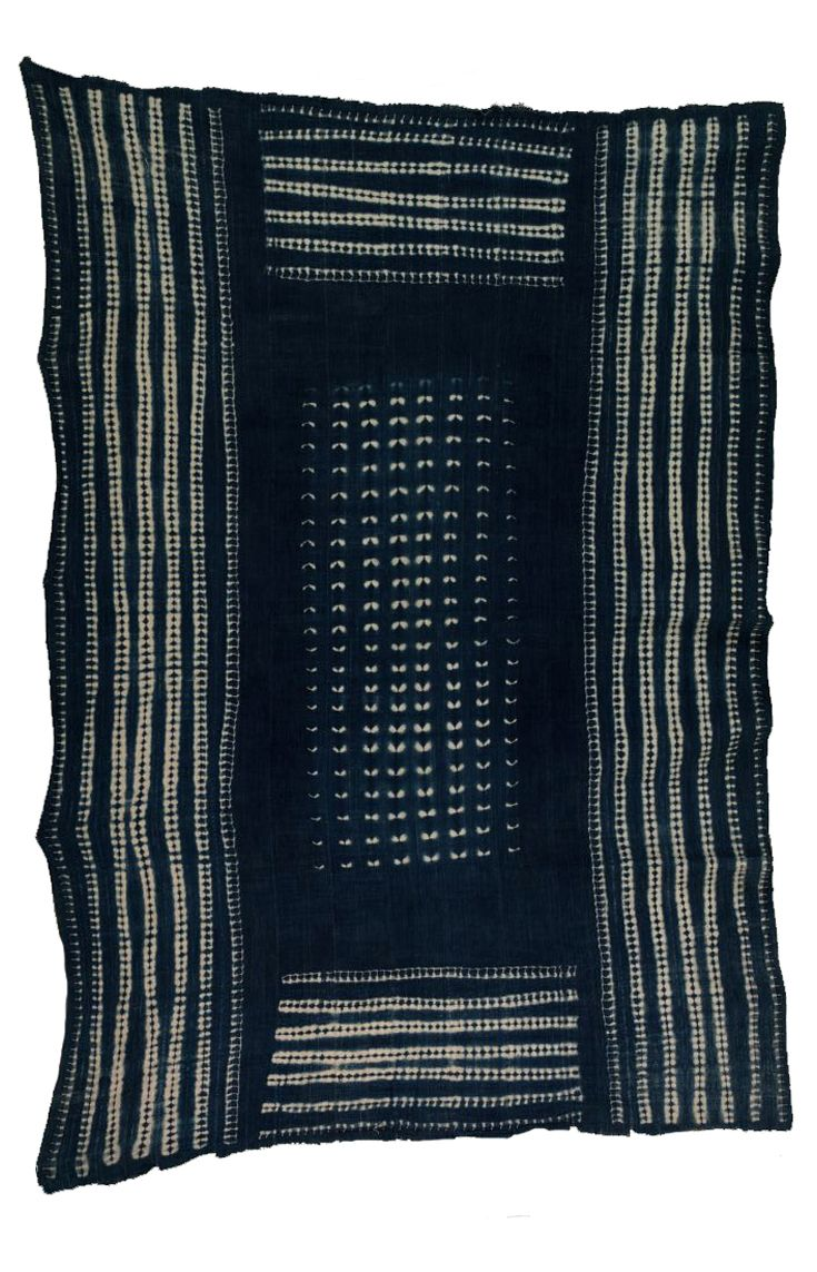 Africa | Cloth from the Dogon people of Mali | Cotton; indigo dyed