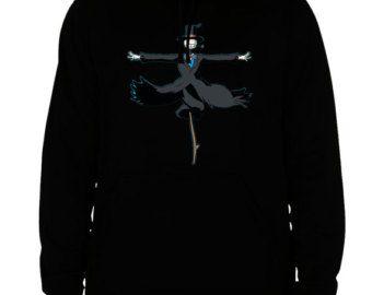 howl's moving castle hoodie howl's moving castle scarecrow sweatshirt men's women's black cotton viscose christmas