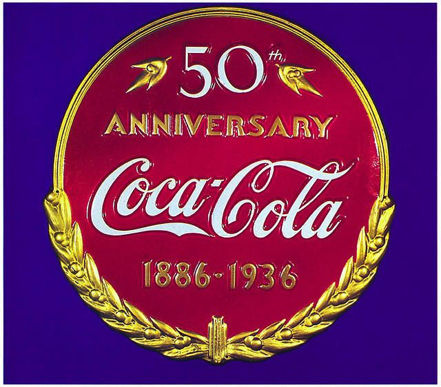 Coca Cola 50th Anniversary Poster 1886-1936 Coca u0027 Cola - coca cola merchandiser sample resume