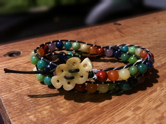 Gemstone Chakra Wrap Bracelet by AndersonGemDesigns on Etsy, $45.00