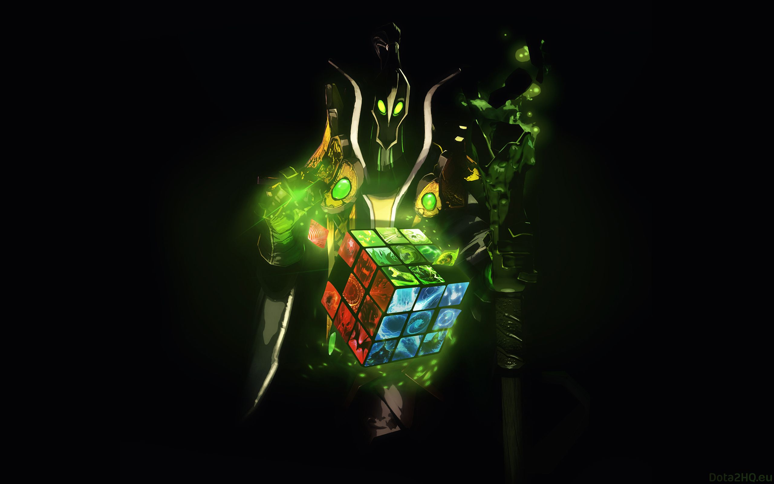 2560x1600 Wallpaper Dota 2 Rubick The Grand Magus Rubiks Cube