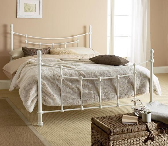 Want A Rustic White Metal Bed Frame Iron Bed Frame Iron Bed