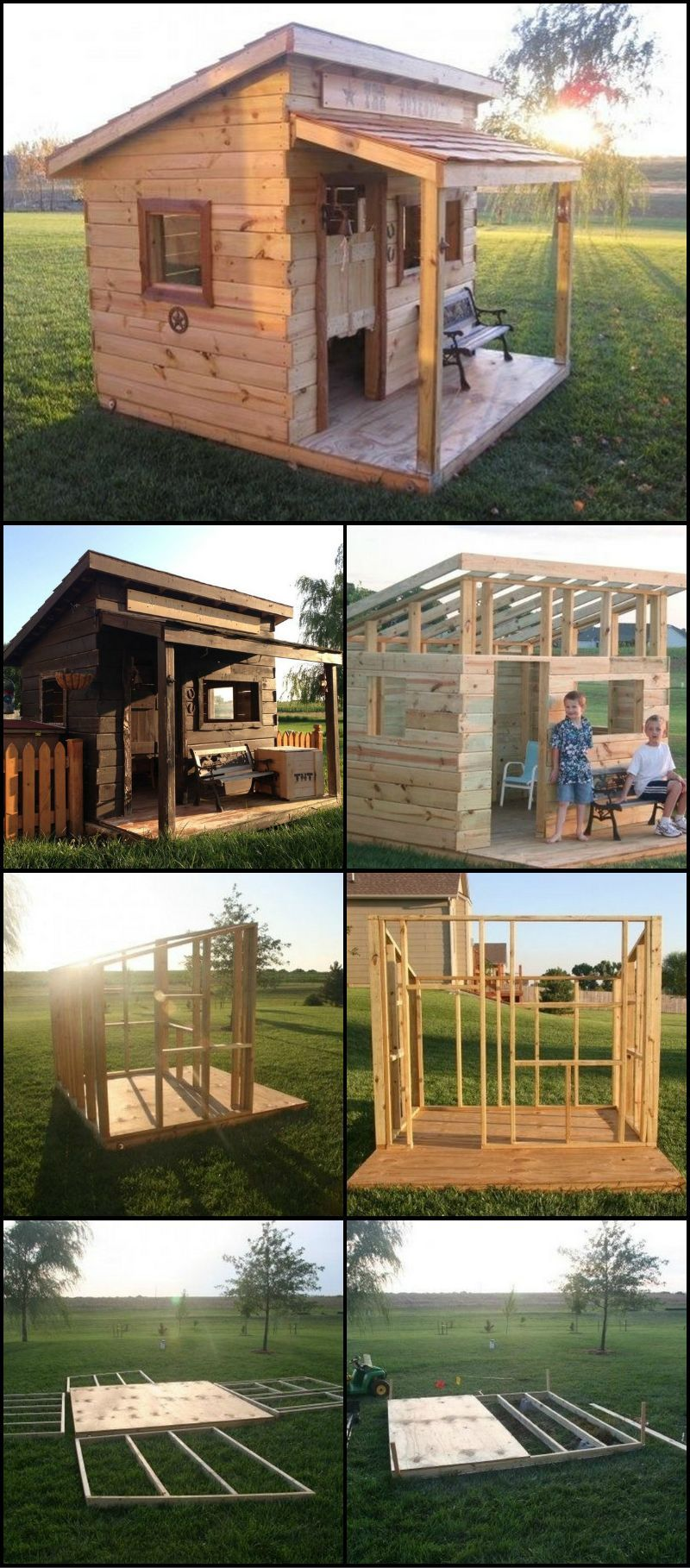 How To Build A Cubby House From Reclaimed Fence Palings