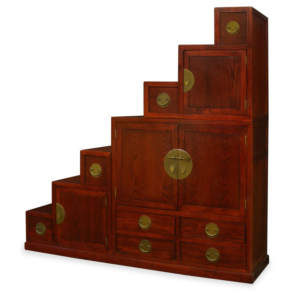 Exceptionnel Tansu Step Chest Furniture | Elmwood Ming Style Step Tansu Chest