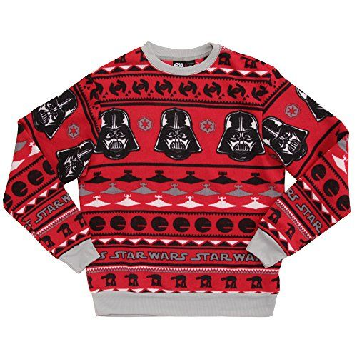 Star Wars Patterned Vader Ugly Sweater Christmas ca $36 Ugly