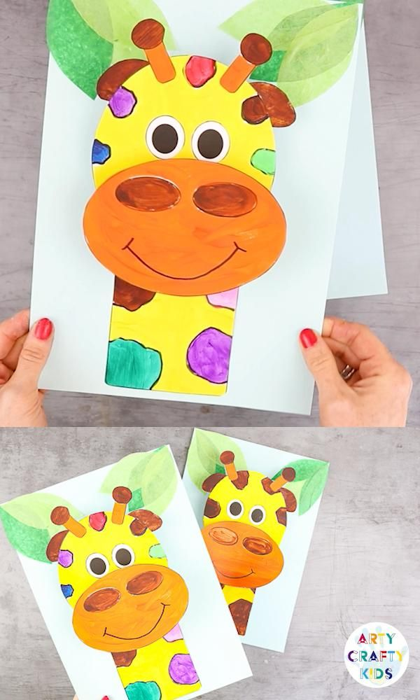 3D Paper Giraffe Craft