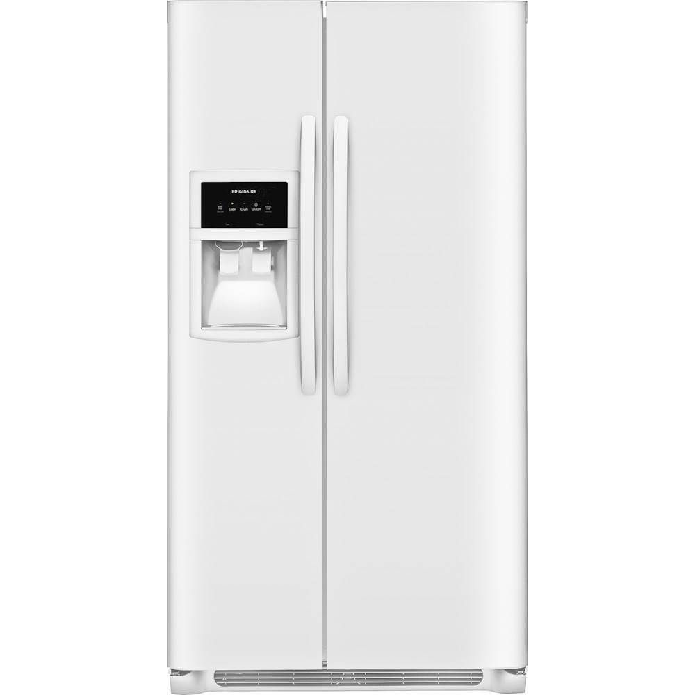Frigidaire cu ft sidebyside refrigerator with water and ice