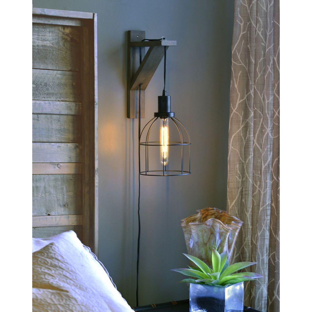 Black Metal Pendant Wall Mounted Lights Bedroom Hanging Bedroom Lights Wall Lamps Bedroom