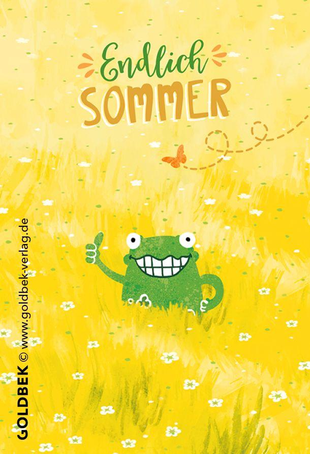 1ff708eda9f050 Postkarten - endlich Sommer! Lustige, handgezeichnete Illustration ...  fängt man gleich selber an zu grinsen ;)