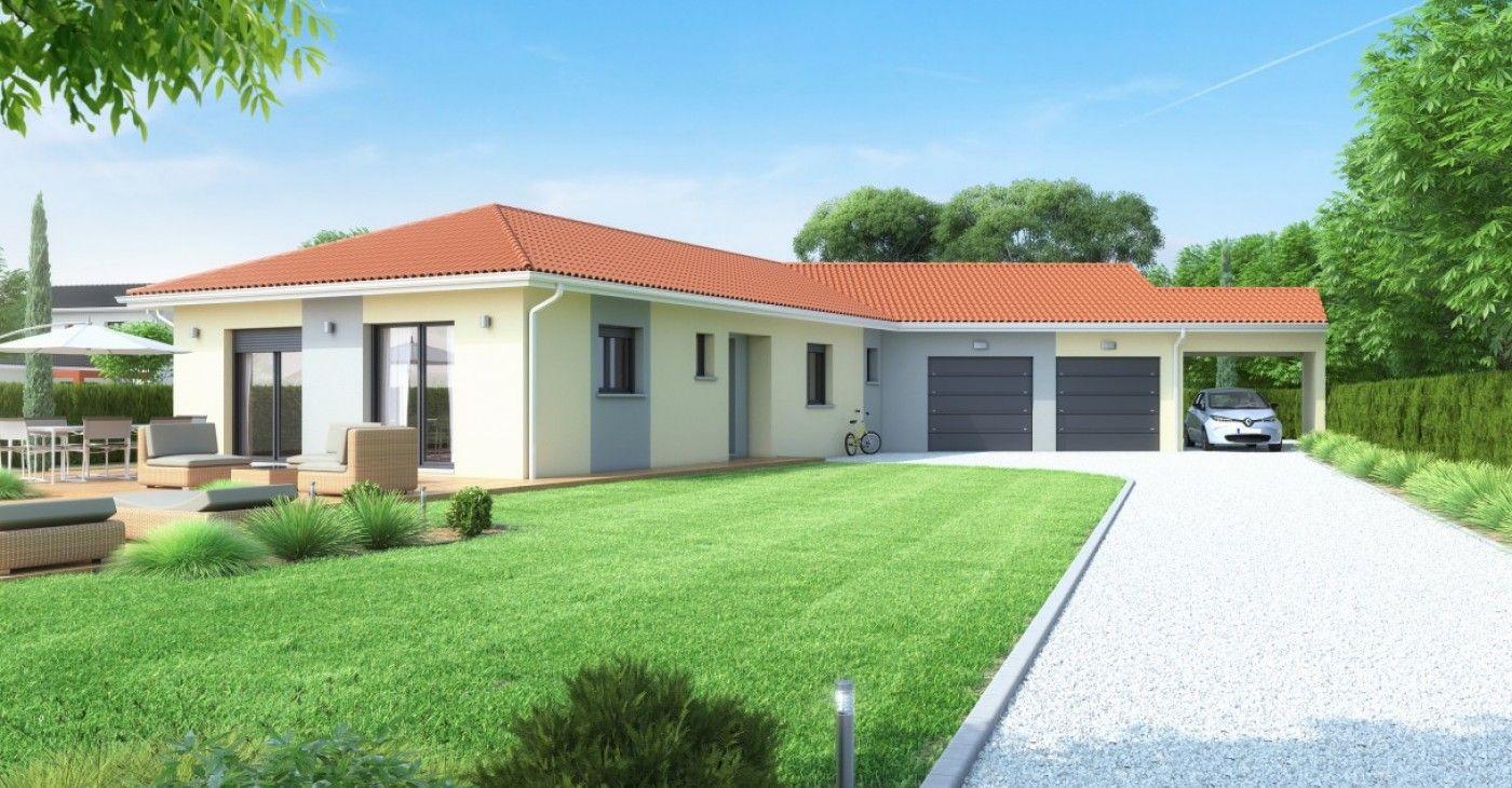 Maison plain-pied, garage double et carport | Maisons Idéales | aboy ...