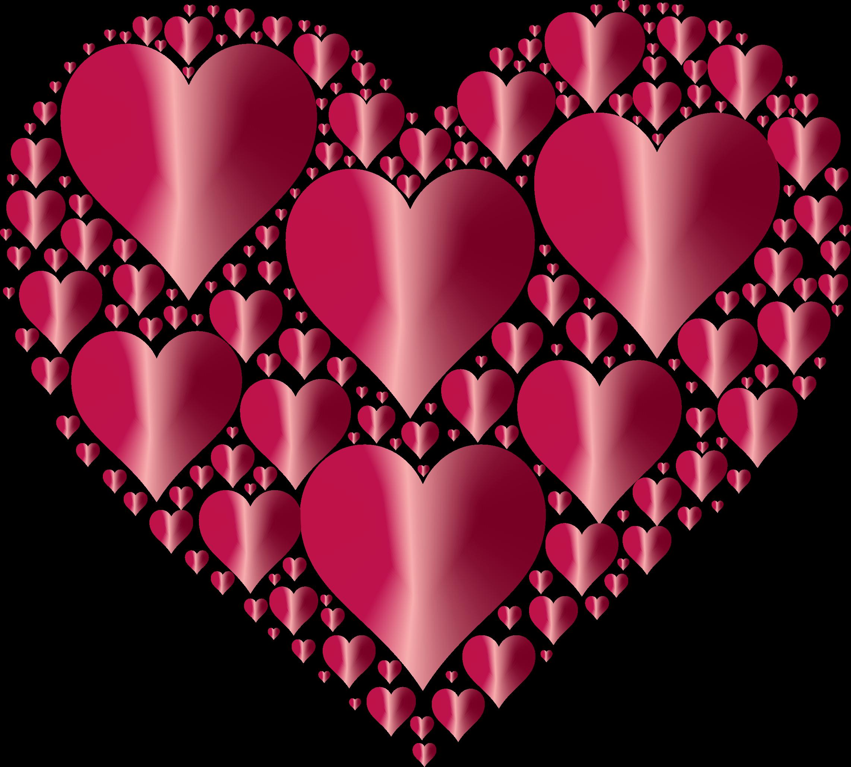 Красивая картинка из сердечек