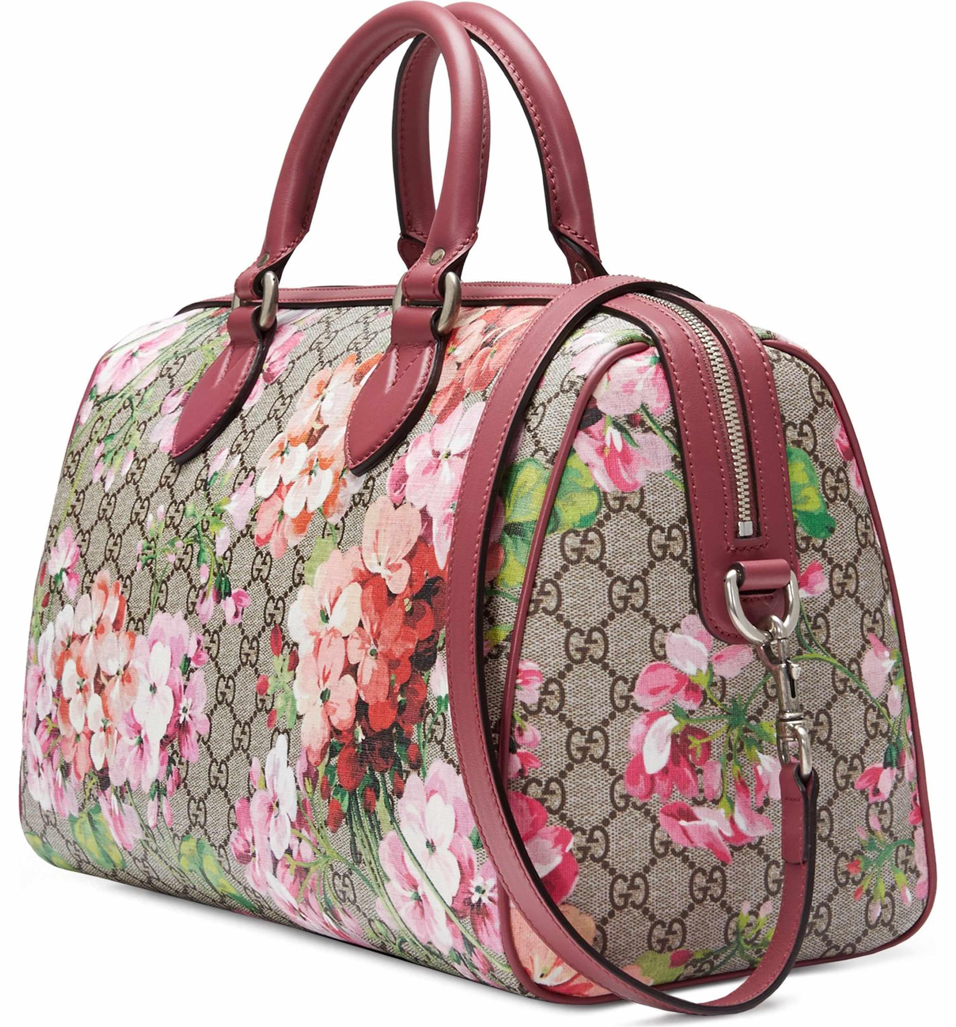 Main Image - Gucci Medium Blooms GG Supreme Top Handle Canvas Bag Top  Handle Bags, 0807ac554f