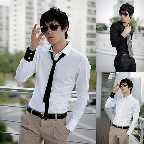 Business Casual punk Mens-Shirts-Sale-Fashion-Fitted-Stylish-Dress ...