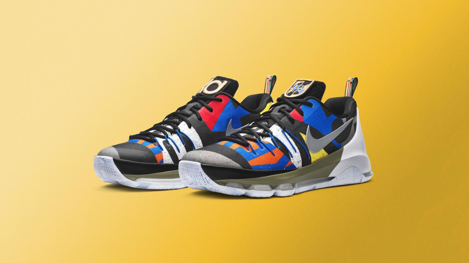 The Nike KD 8 All Star features international inspiration thanks to  colorful flags all over the