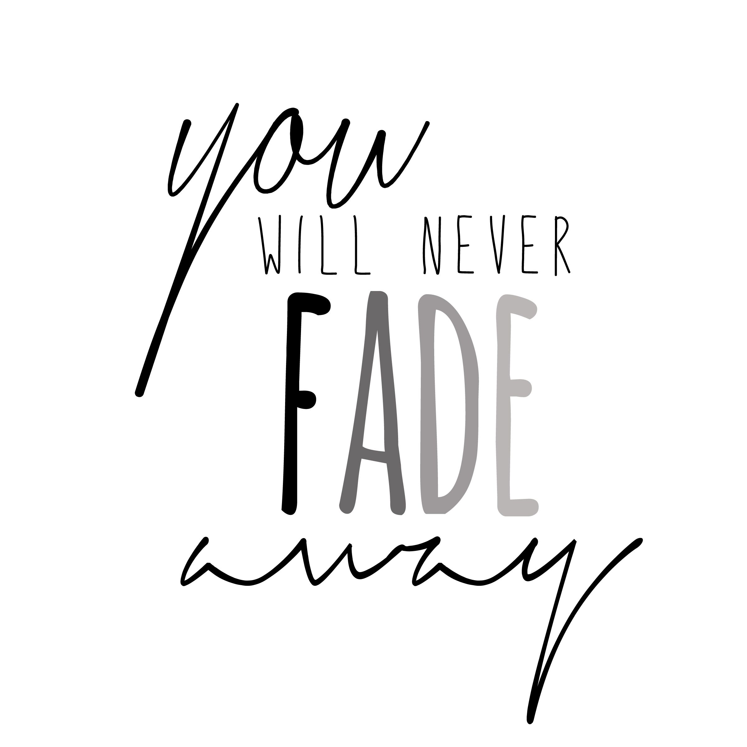 Free Weights Your Design Lyrics: You Will Never Fade Away Hillsong
