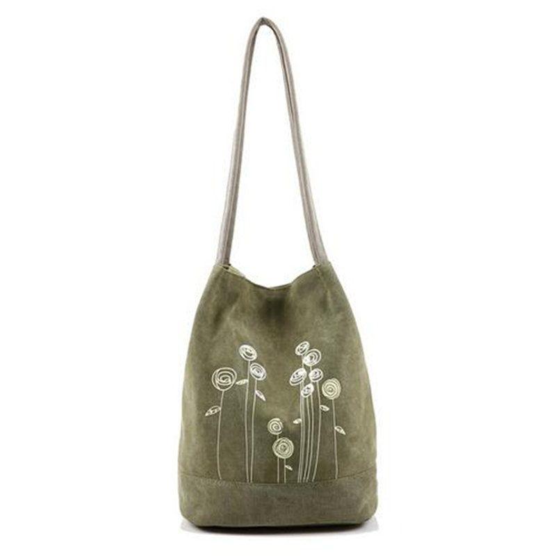 2017 Summer Fashion Simple Canvas Shoulder Bag Printing Women ...
